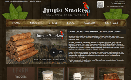 Jungle Smokes Cigars WordPress