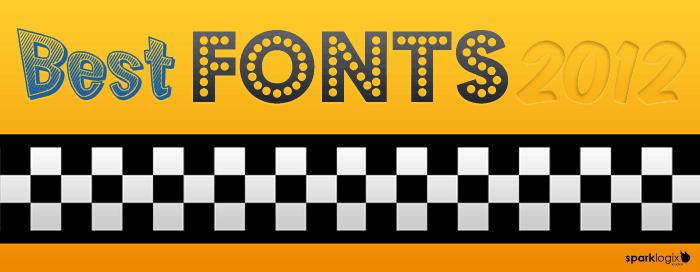 Spark logix studios picks 15 of the best fonts of 2012