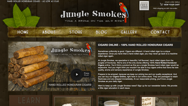 Jungle Smokes Homepage