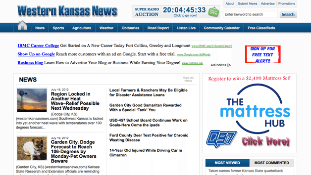 Western Kansas News Homepage