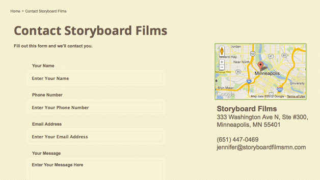 Storyboard Films Contact