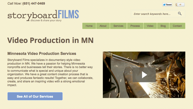 Storyboard Films Homepage
