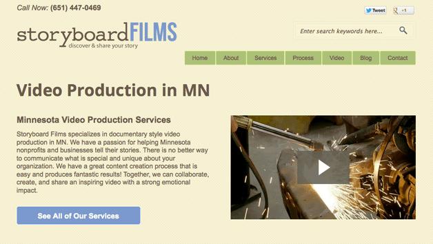 Storyboard Films Homepage