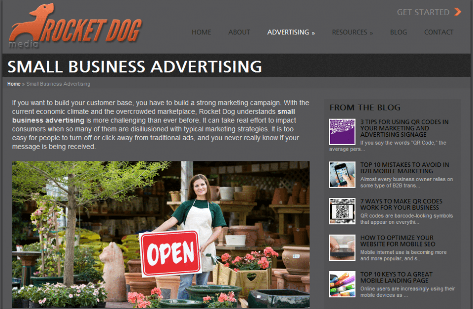 Rocket Dog Media Small Business Advertising