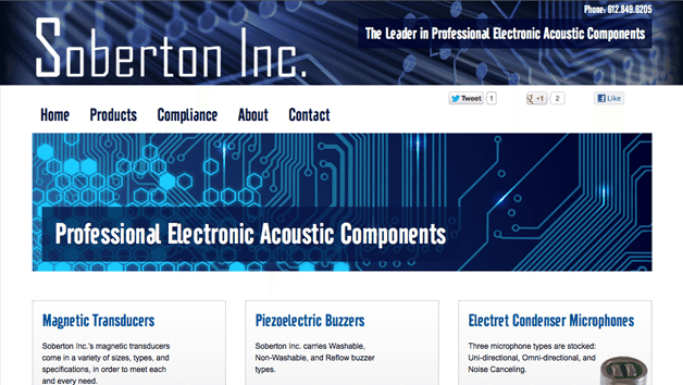 Homepage Soberton Inc WordPress