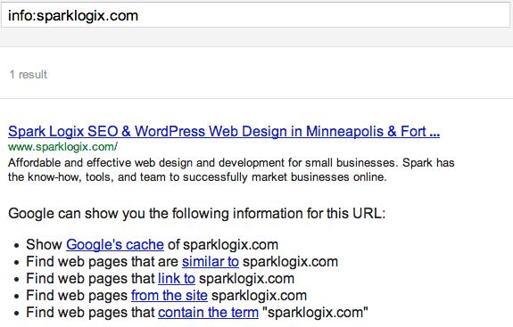 info search operator