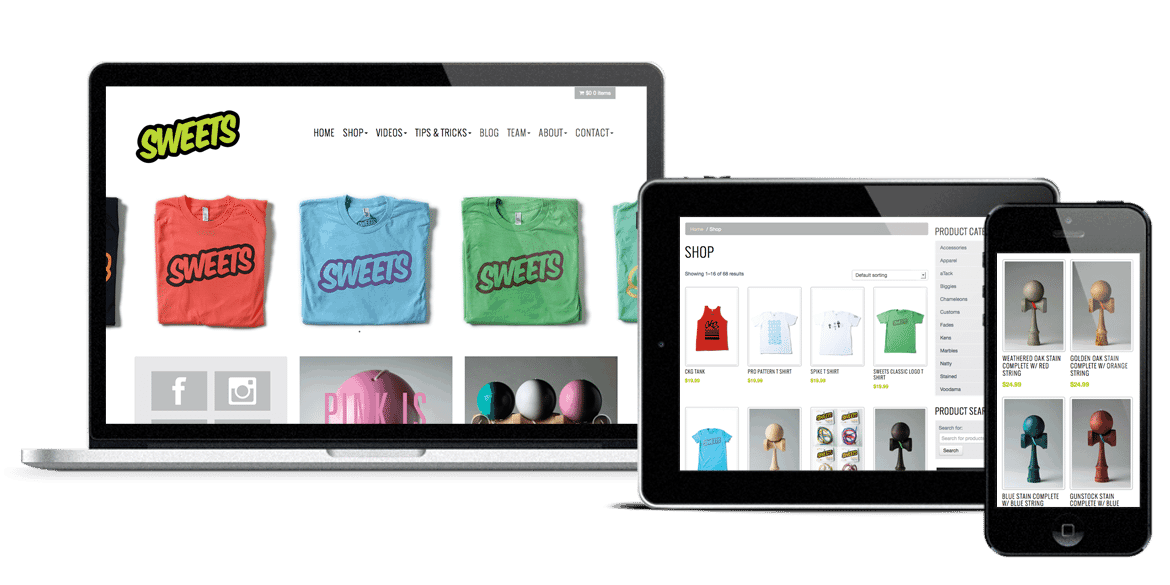Sweets Kendamas Website Build by Spark Logix Studios