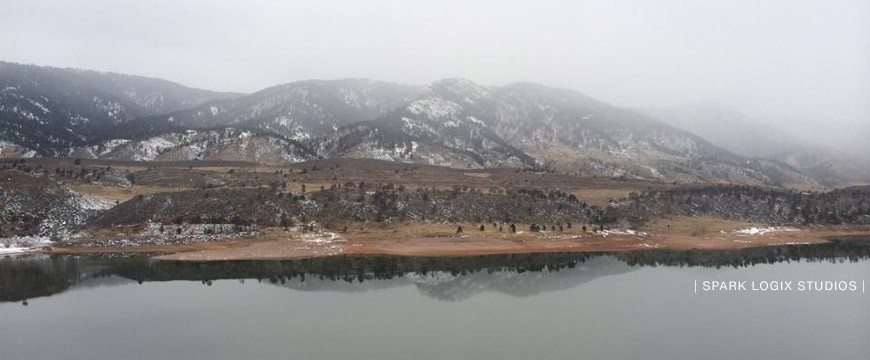 Horsetooth Reservoir Light Snow Fort Collins