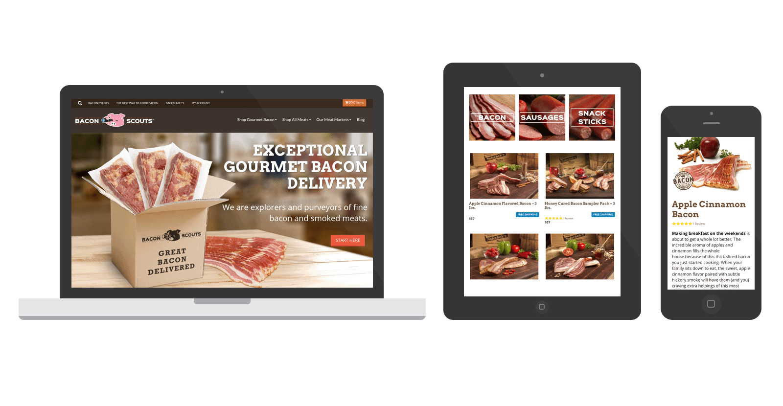 Bacon Scouts eCommerce Website