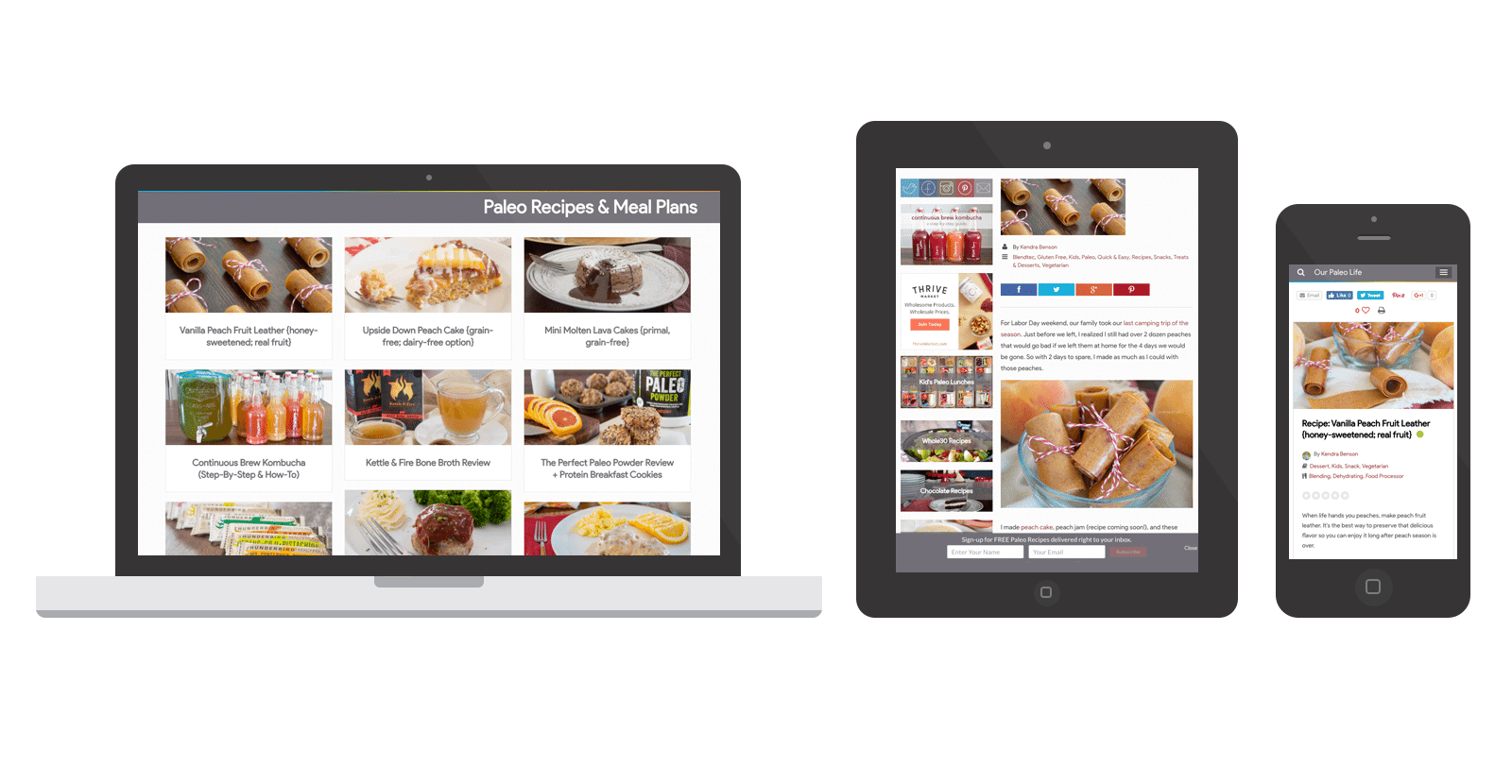 Our Paleo Life WordPress Website