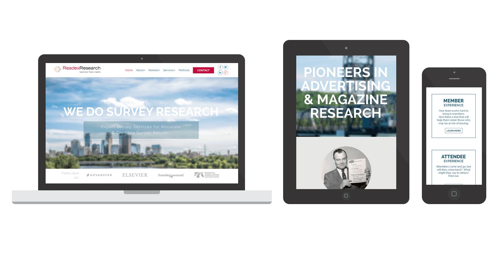 Readex Research WordPress Website