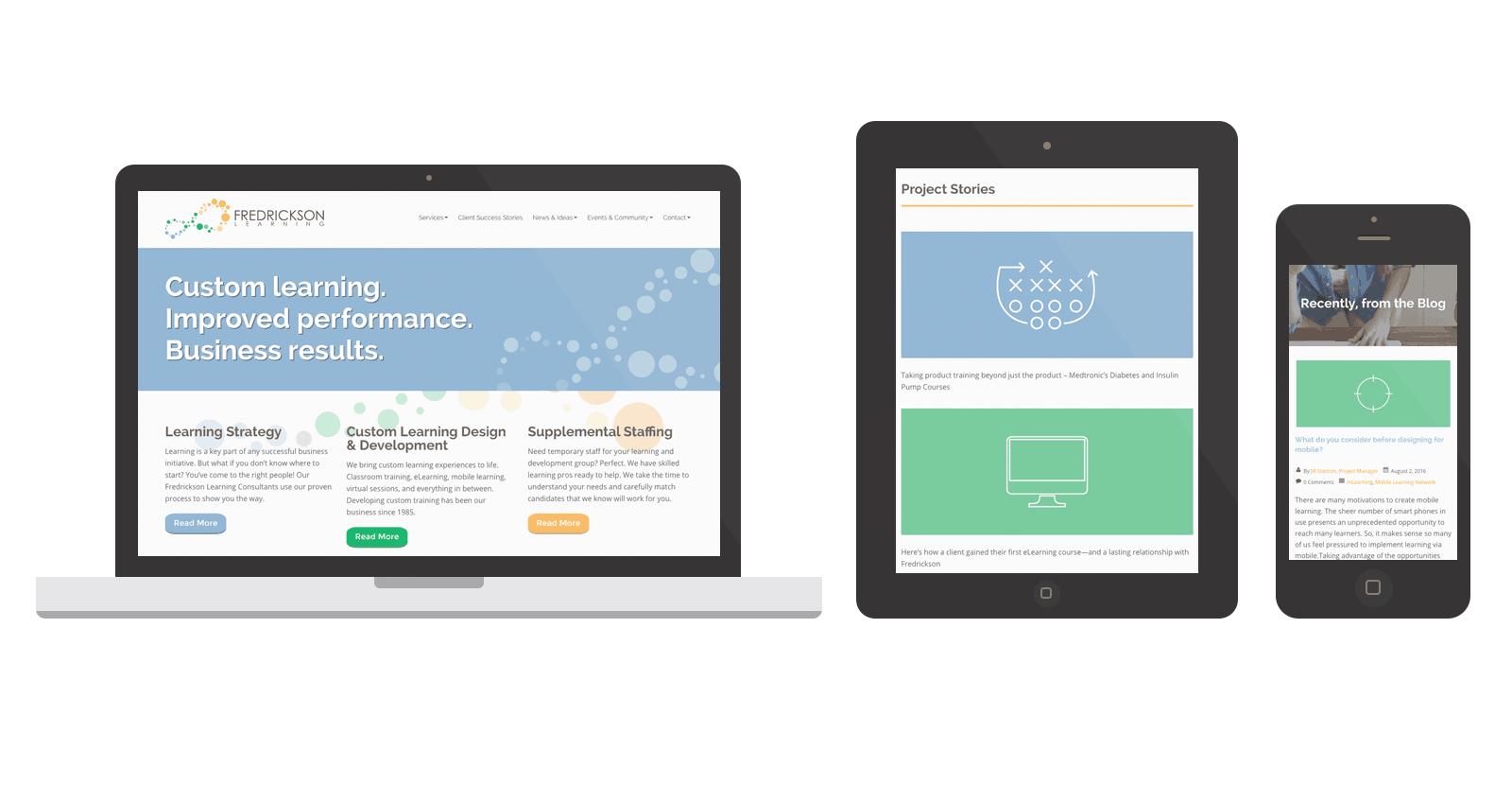 Fredrickson Learning WordPress Website