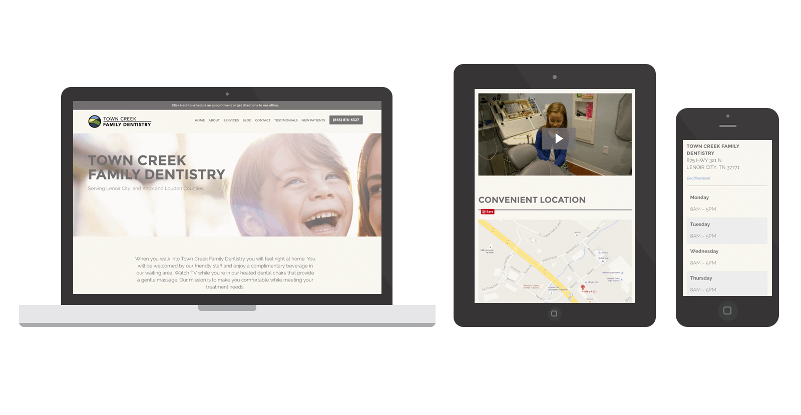 Town Creek Family Dentistry WordPress Website