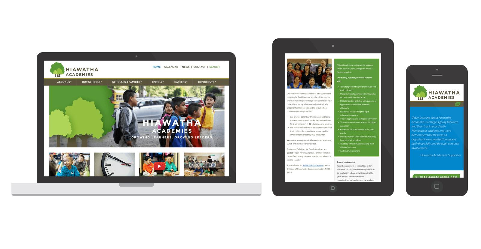 Hiawatha Acadamies WordPress Website