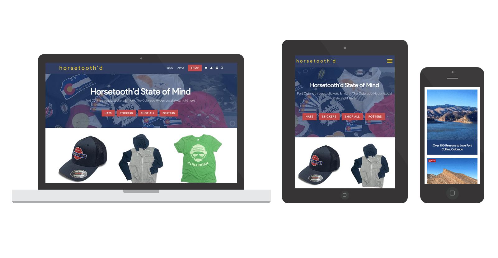 Horsetooth'd WordPress eCommerce Website