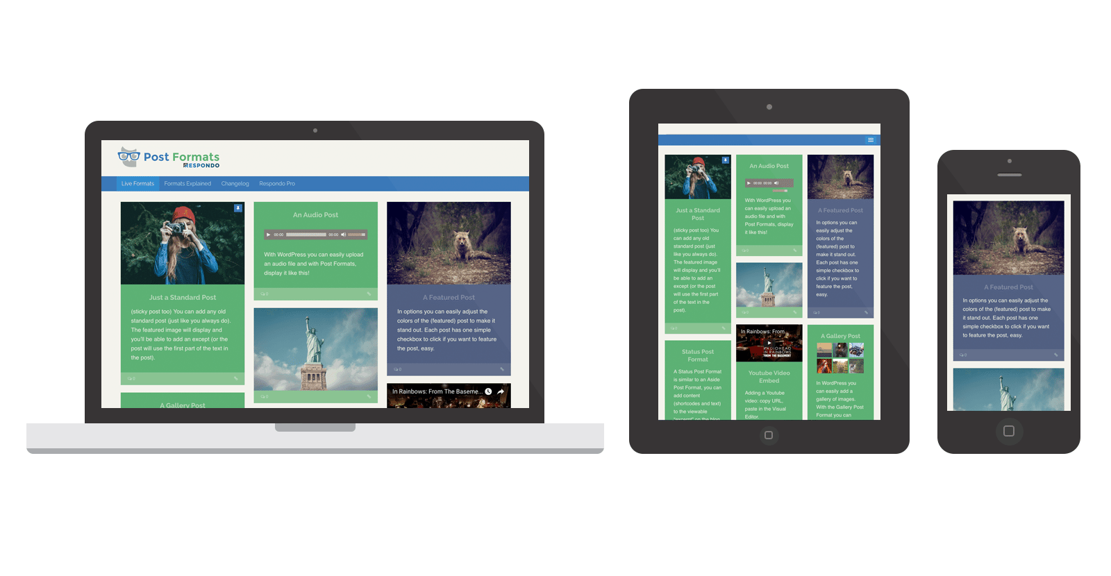 WordPress Post Formats Demo Site