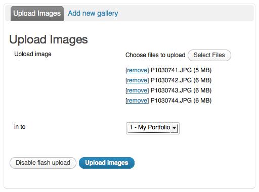 Uploading images with NextGen
