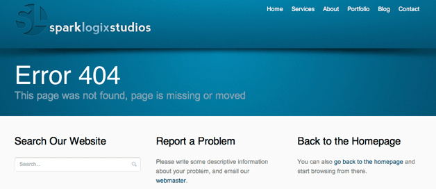 Spark Logix 404 Page Error