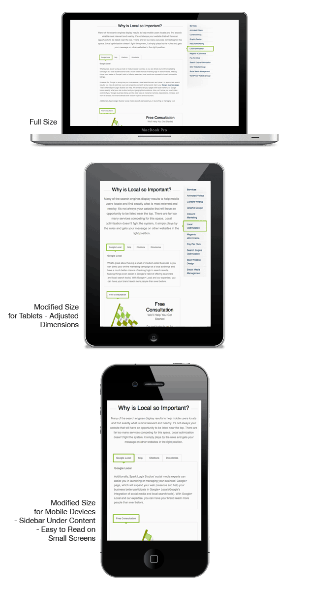 What is responsive web design with examples