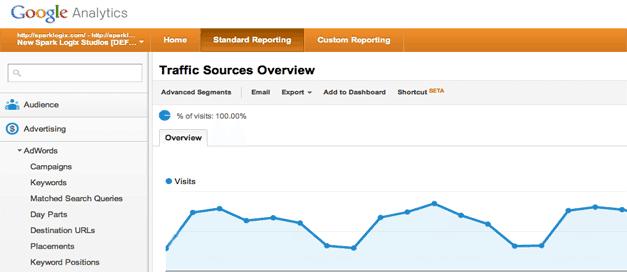 Google Analytics Website Reports