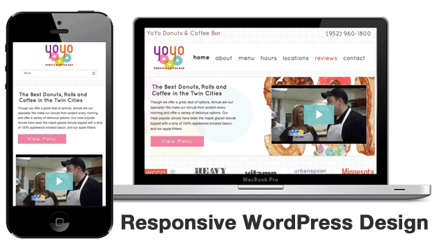 Responsive Web Design for YoYo Donuts