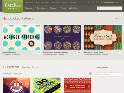 Creative Market Patterns