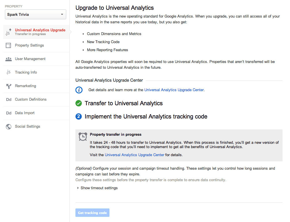 Analytics Transfer Step 3
