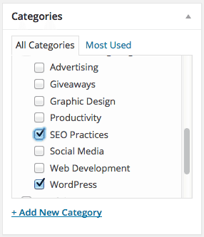 Add Categories in WordPress