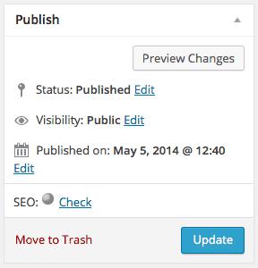 Publish WordPress Blog Post