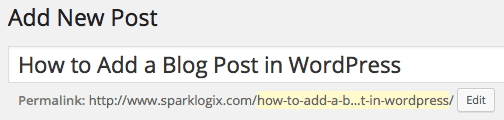 Creating Your Title for a WordPress Blog Post