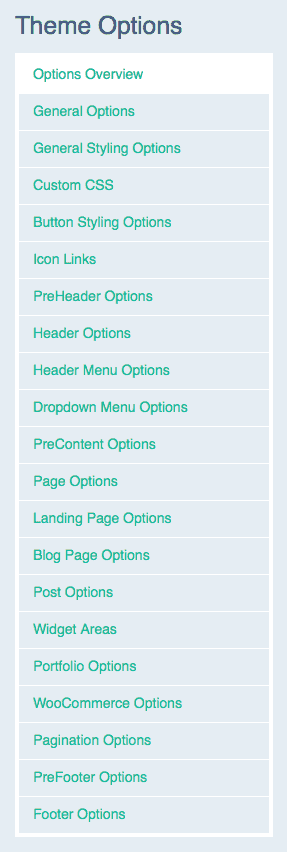 Theme Options for WordPress