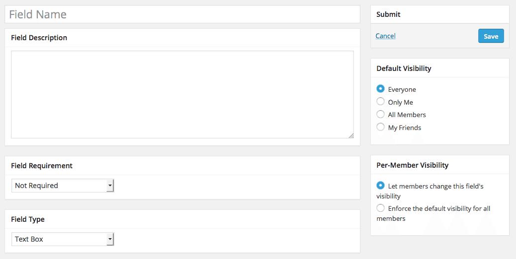 Add Field for BuddyPress Profile