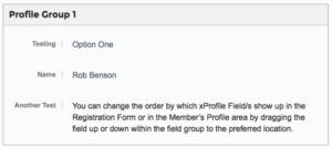 Profile Group Font End