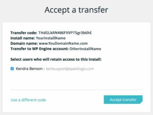 How to Unlock a Transferable WPEngine Install - Step 6