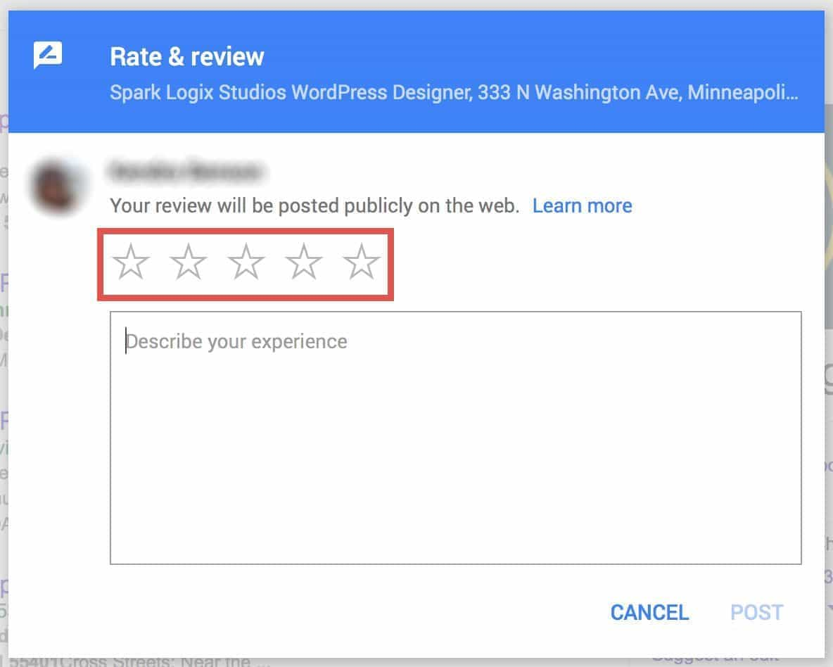 Star Rating on Google
