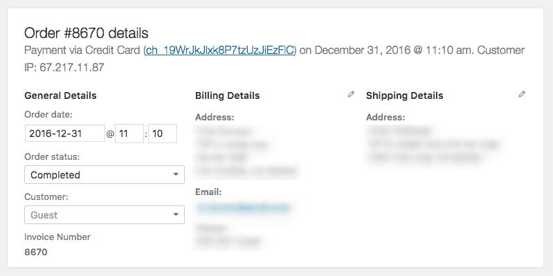 Order Details Admin
