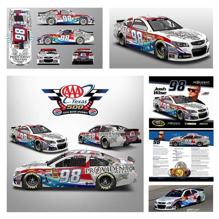 Texas Motor Speedway - Josh Wise - Provident Metals NASCAR Design
