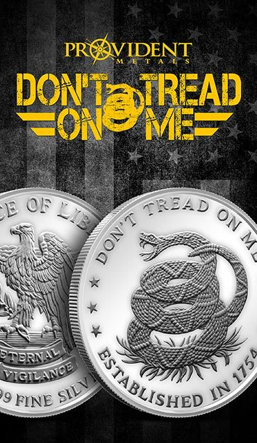 Don't Tread on Me Provident Metals Silver Round - Print Card