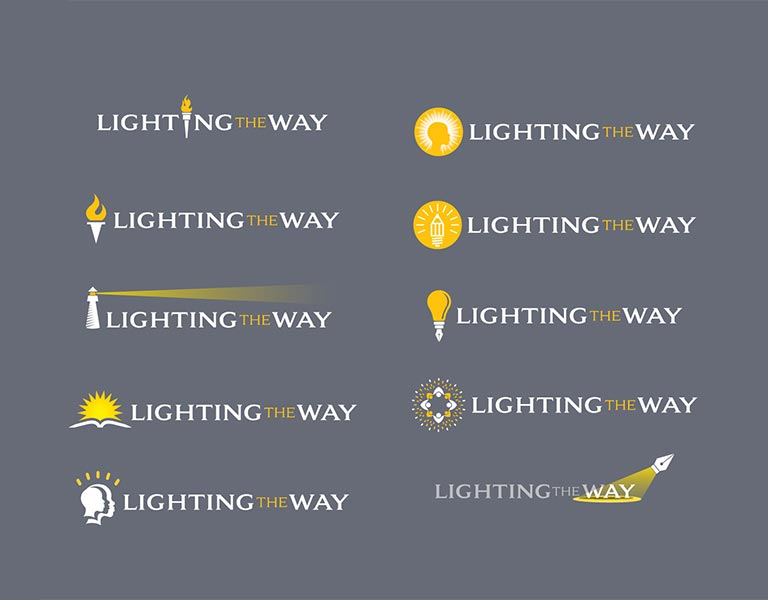 Lighting the Way Logo Options