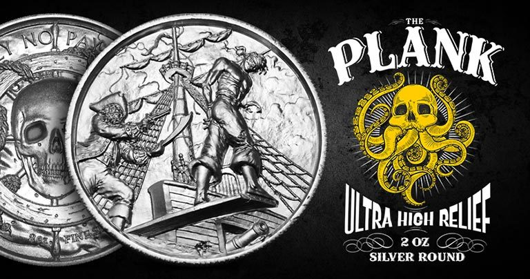 The Plank Ultra High Relief 2 oz Silver Round Web Creative