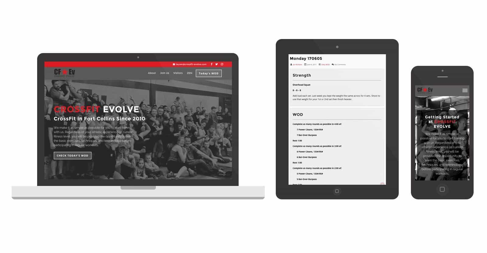 Crossfit Evolve Web Design