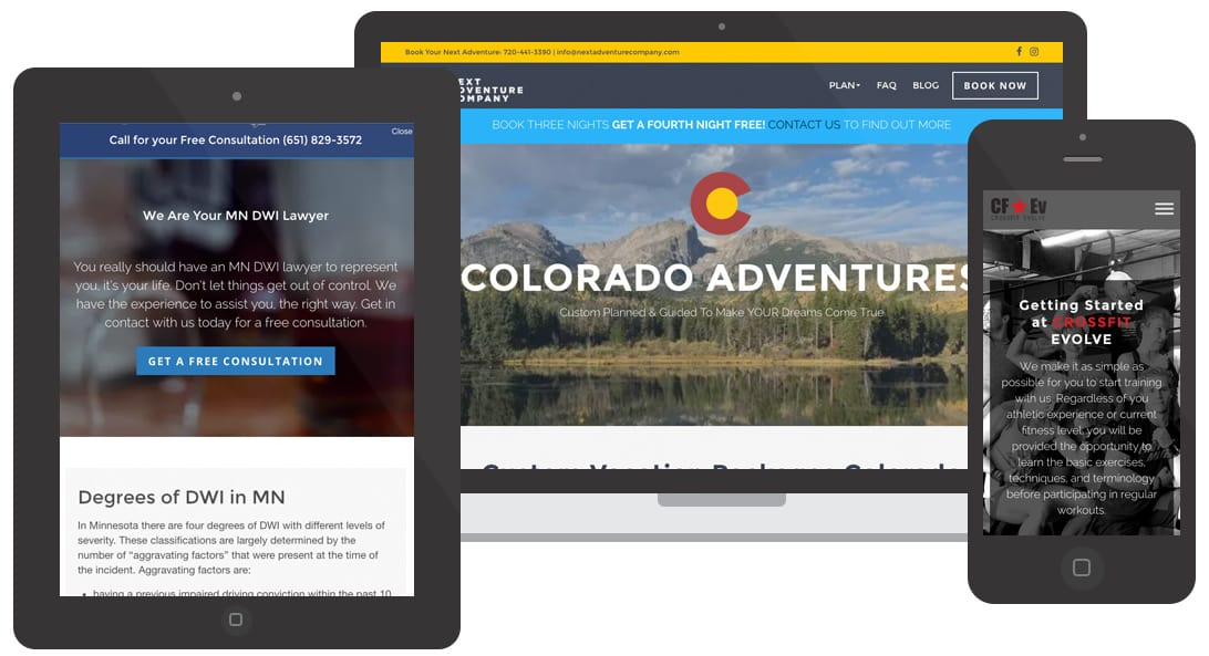 Website Design Minnesota & Colorado