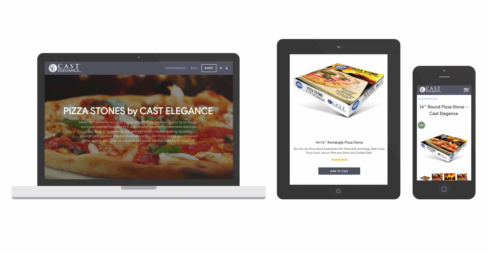Cast Elegance Pizza Stone SEO and Website Design by Spark Logix