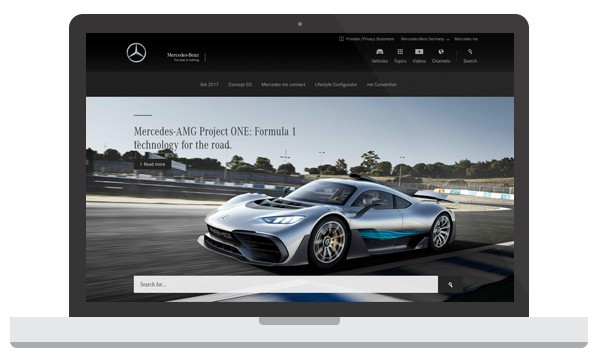 Mercedes Benz WordPress Website