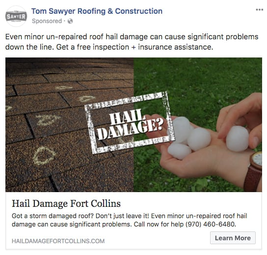 Local Business Facebook Ad Post