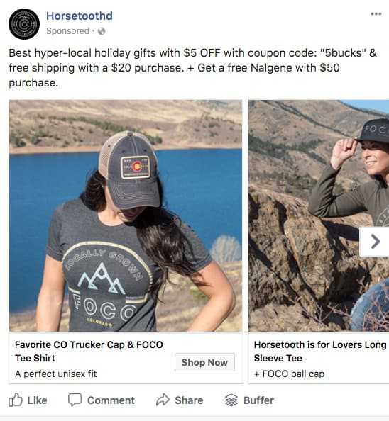 Multi Ad Facebook Post Horsetooth'd Holidays