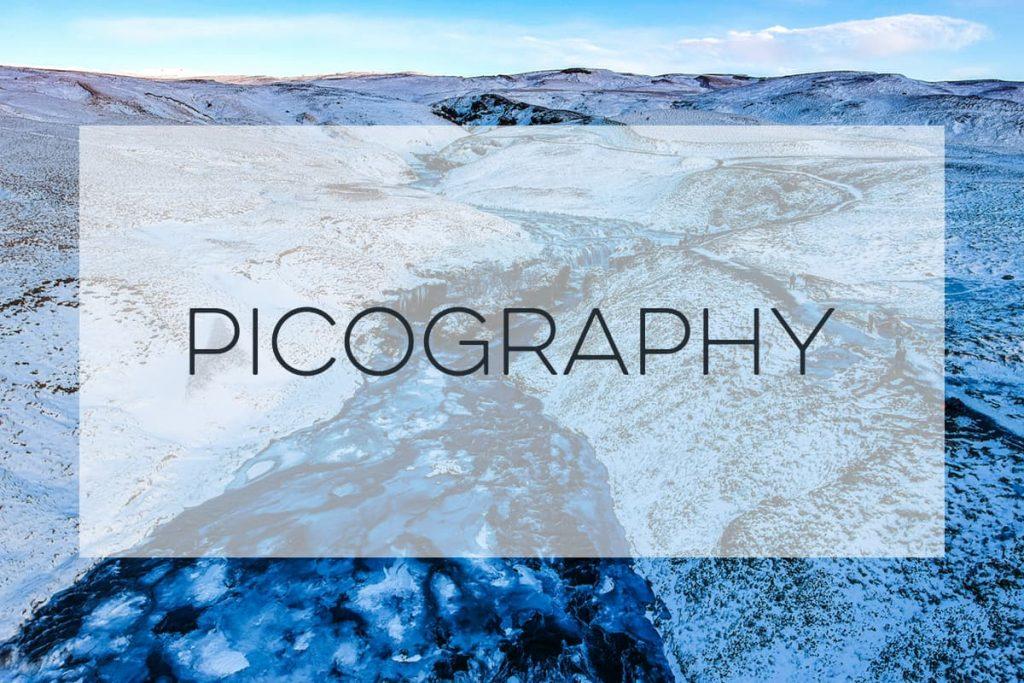 Stock Photography of a frozen landscape