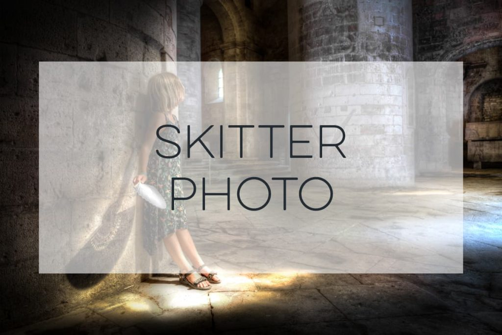 Stock Photography of a little girl in an old cathedral