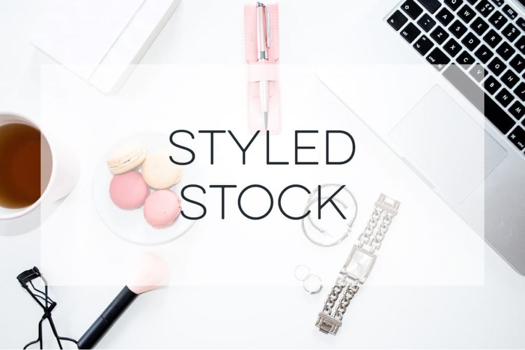 stock photography of a desk with make-up
