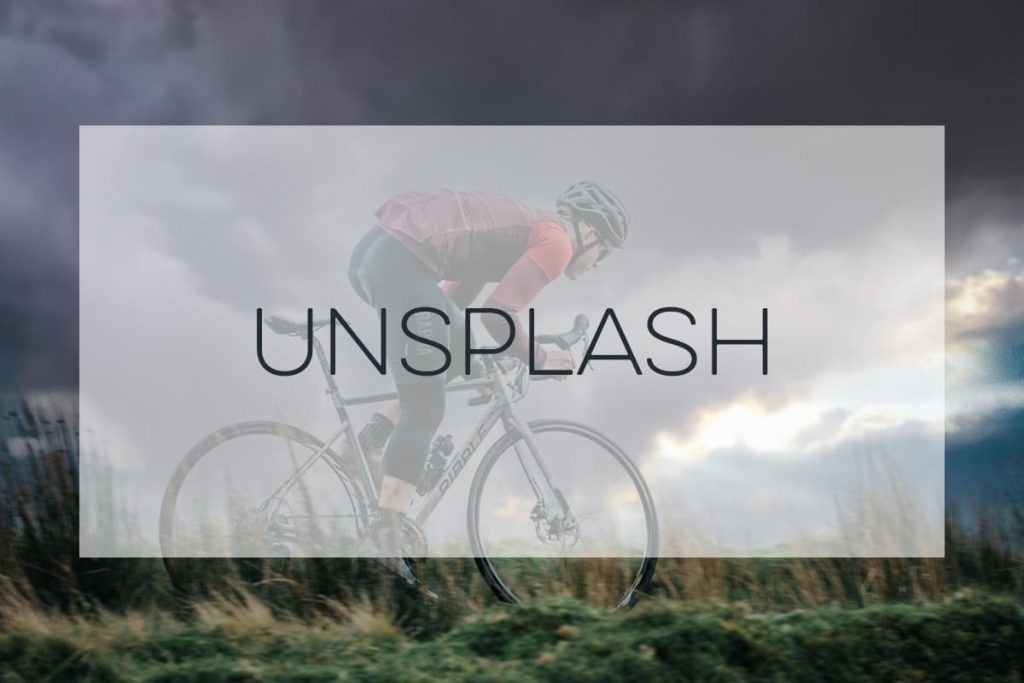 Stock Photography of a mountain biker